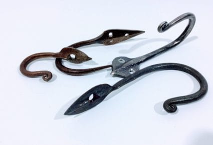ironwork leaf shaped hooks