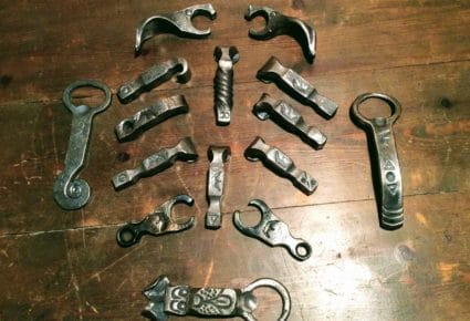hand forged bottle openers