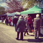 bustling outdoor market